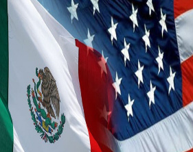 US Mexico Flag